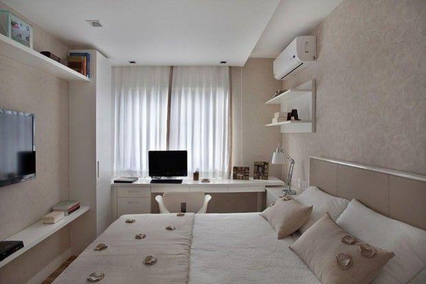 home office no quarto casal pequeno - Pesquisa Google  룸  Pinterest