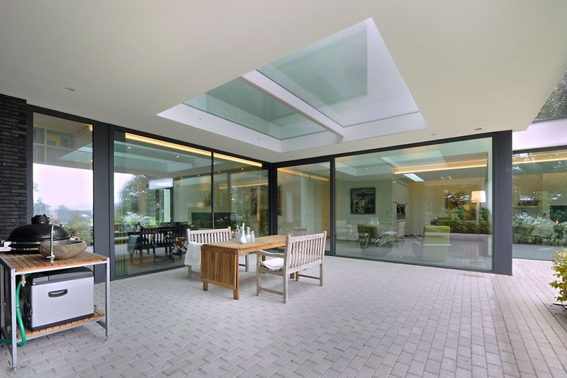 Modern landhuis huisje terrace design
