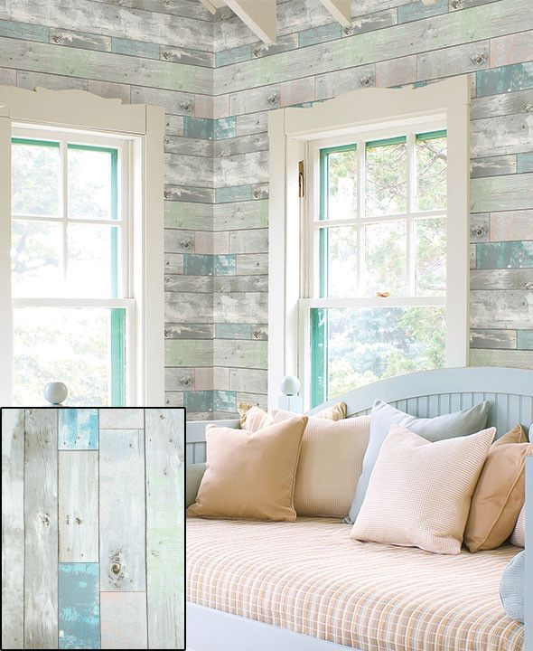 Decorative Prepasted Wall Covering Wood Look Cream Or
