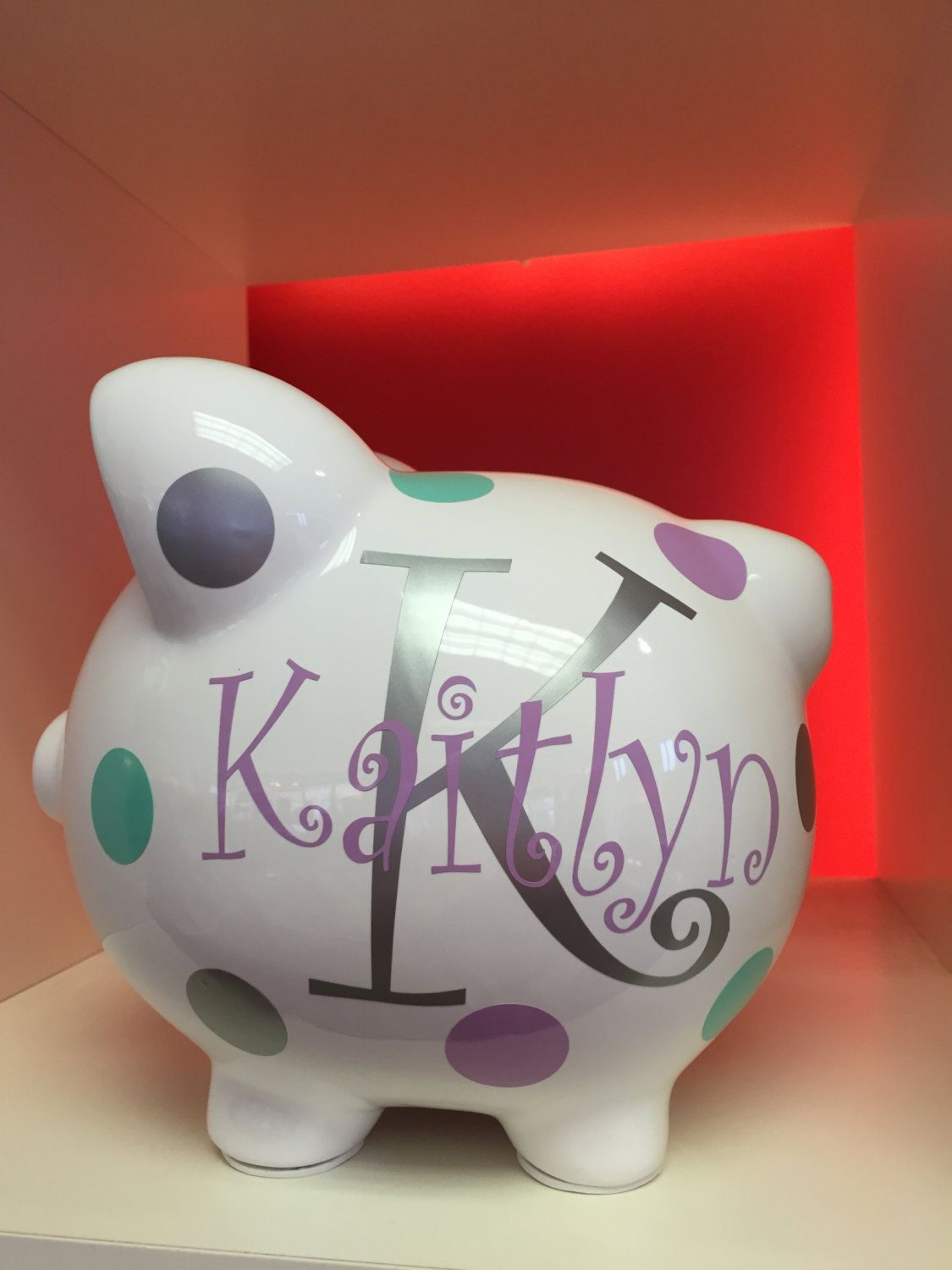 Personalized Piggy Bank Childrens S Kid Monogrammed