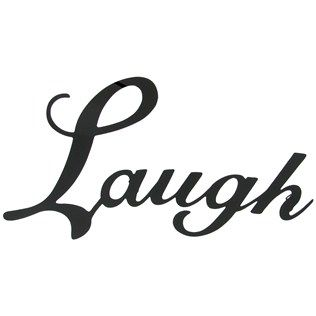 Laugh Black Metal Wall Word | Shop Hobby Lobby  To combine with others to make Live Laugh Love