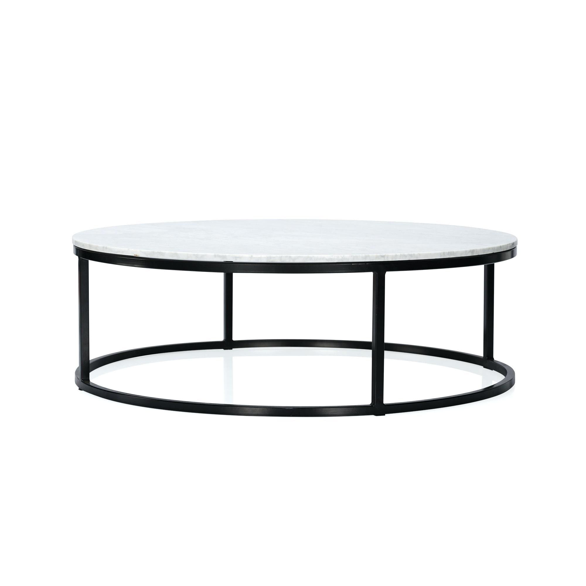round glass coffee table with storage