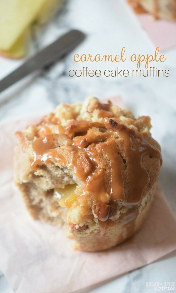 Caramel Apple Coffee Cake Muffins Recipe Little Cakes