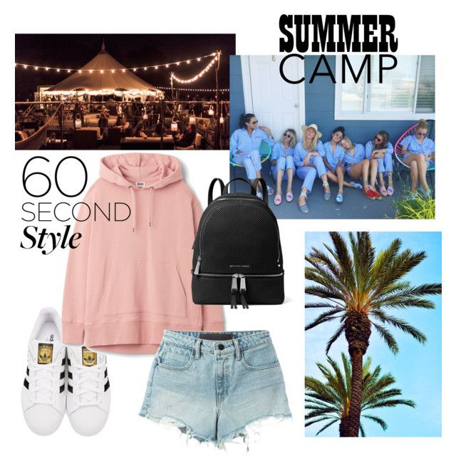 """""""#summer_camp"""" by chicken-228 ❤ liked on Polyvore featuring adidas Originals, MICHAEL Michael Kors and T By Alexander Wang"""