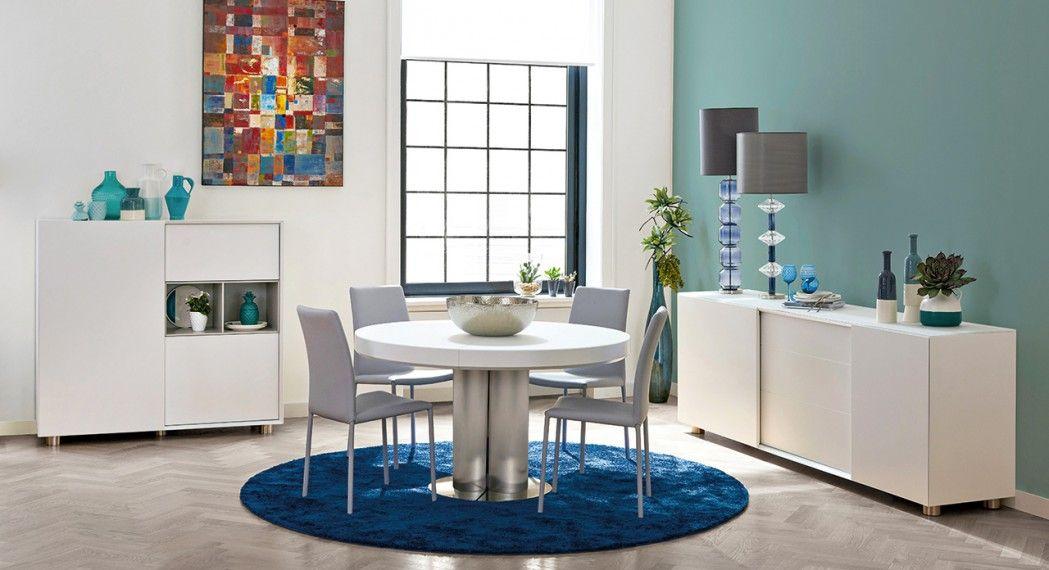 Une Table Ronde Permet Du0027optimiser Lu0027espace Dans La Salle à Manger. Salle à  Manger Nikos Fabrication Européenne.