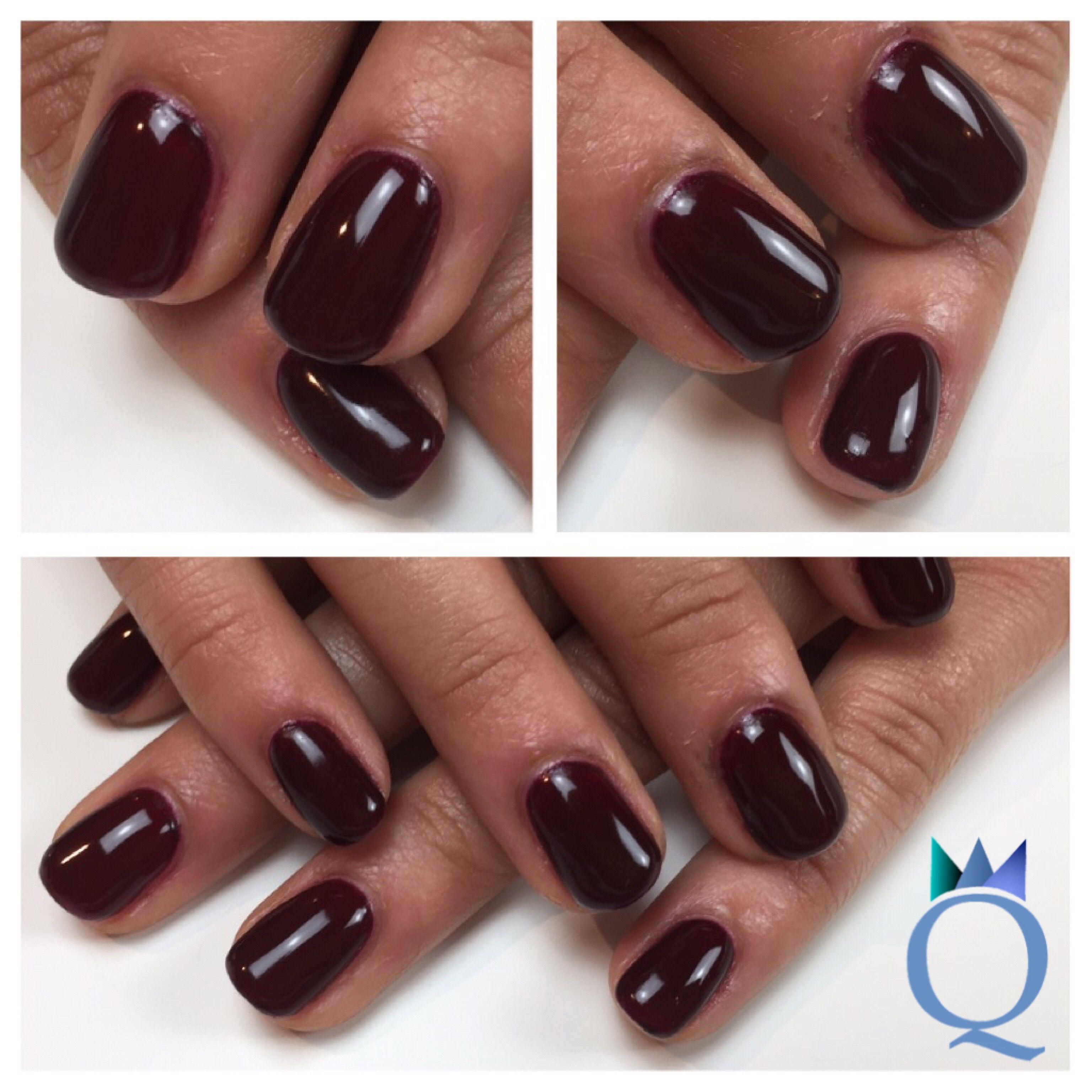 shortnails #gelnails #nails #darkred #yvesswiss #kurzenägel #nägel ...