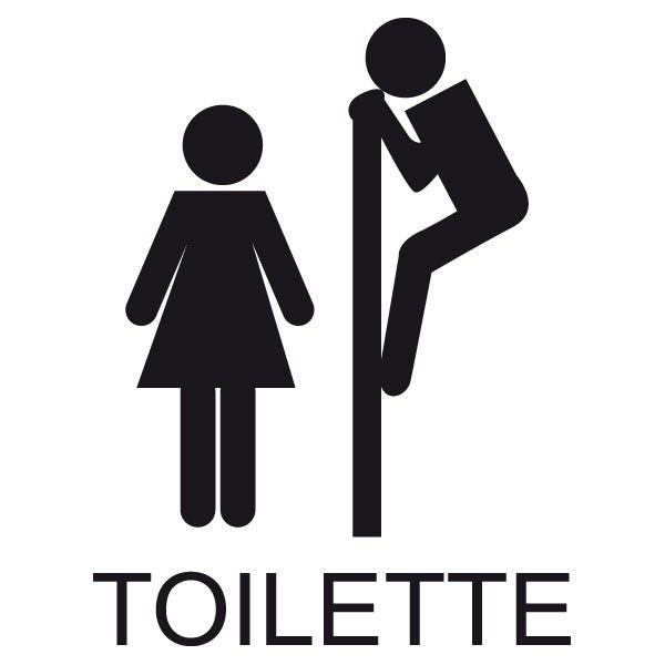 Connu Sticker WC Signalétique toilette | Fanastick.com | Signalétique  YL17