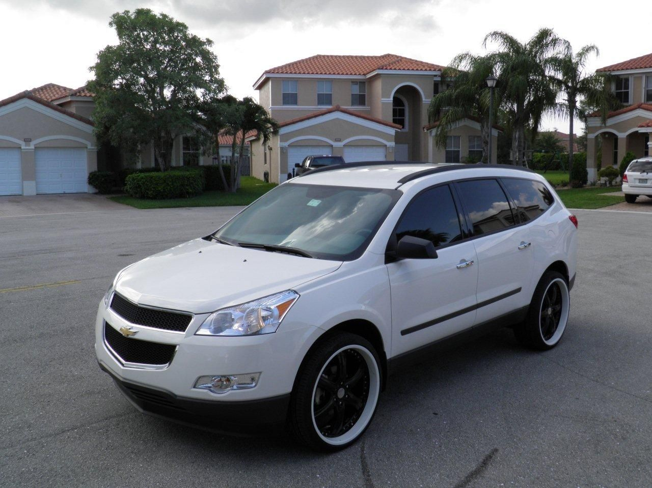 2014 chevy traverse white black rims Google Search