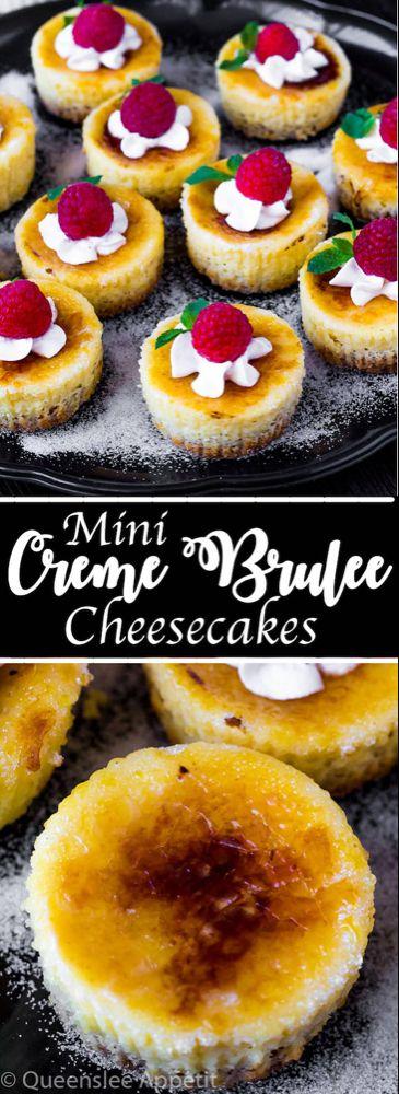 Mini Creme Brûlée Cheesecakes ~ Recipe | Queenslee Appétit #cremebrulée
