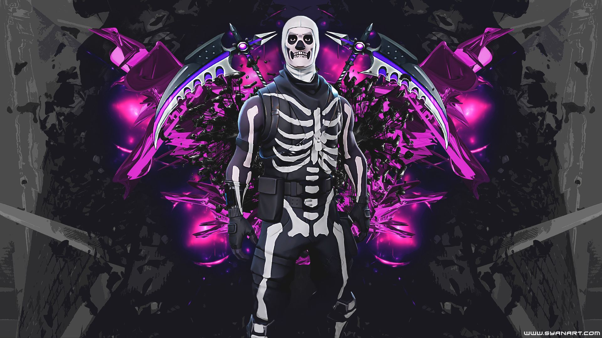 1920x1080 Hd Wallpaper Of Skull Trooper Fortnite Battle Royale Video Game Gaming Wallpapers Best Gaming Wallpapers Full Hd Desktop Wallpapers