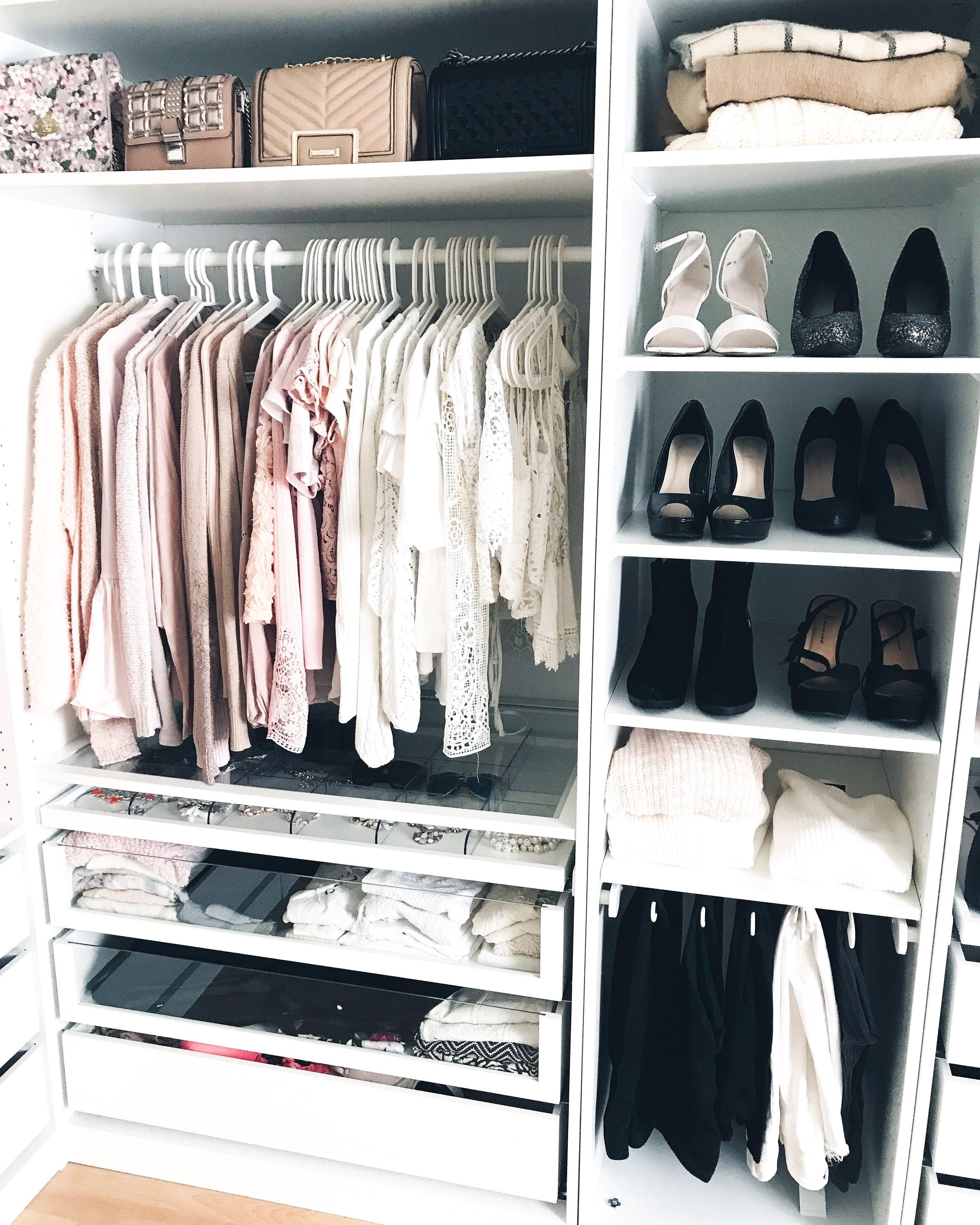 Walk In Closet #Walkincloset #Wardrobe #Ikea #Ikeahack #Ikealover #Pax #