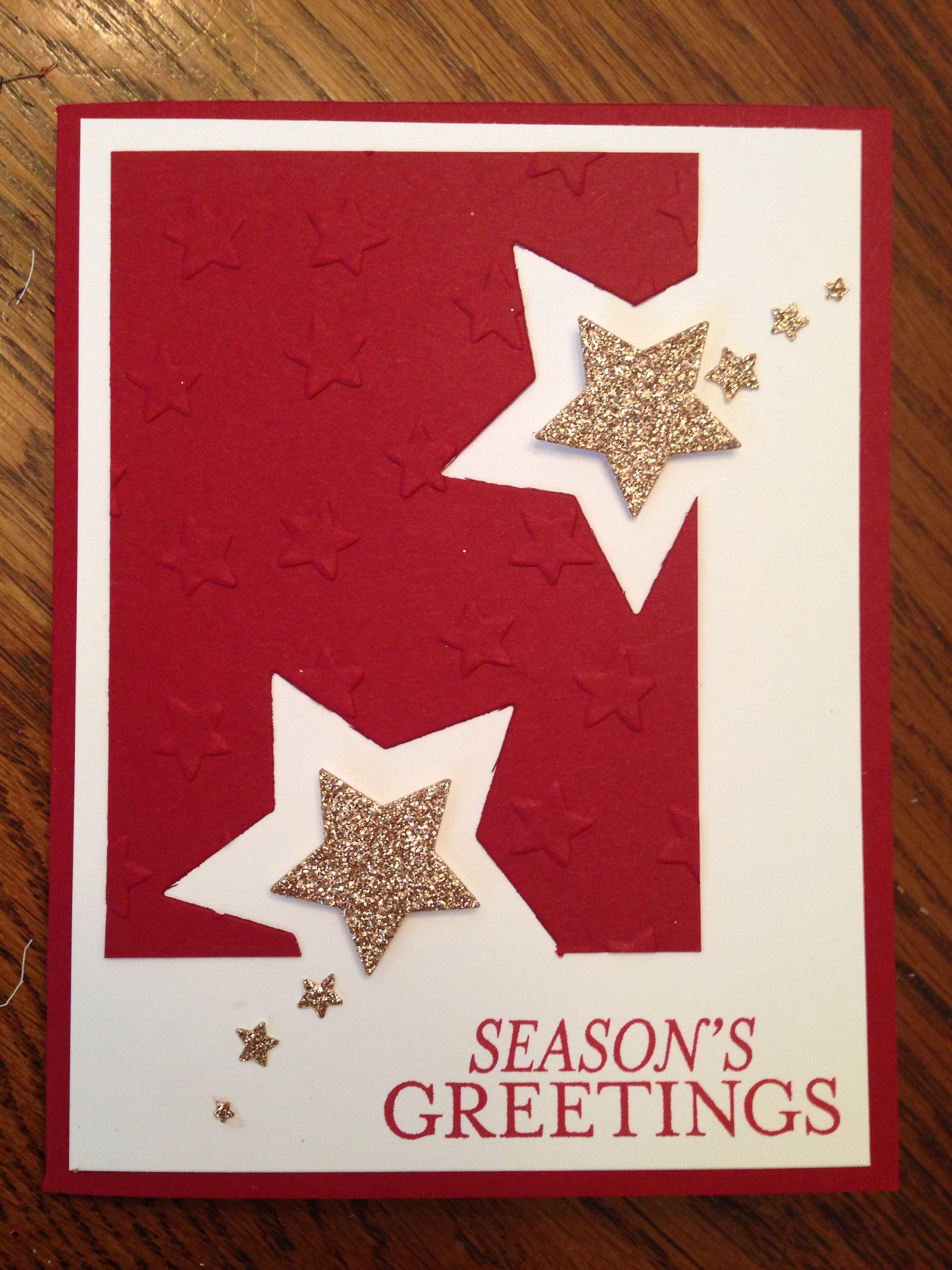 Schne Sternenkarte Stern Pinterest Embossing Folder Bright