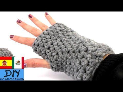 Tutorial crochet: Mitones (guantes sin dedos) Paso a paso - YouTube ...