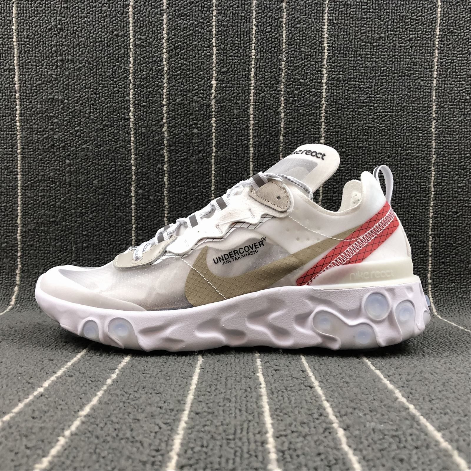 Undercover x Nike React Element 87 White Cream Red For Sale – Hoop Jordan bb74245a1862