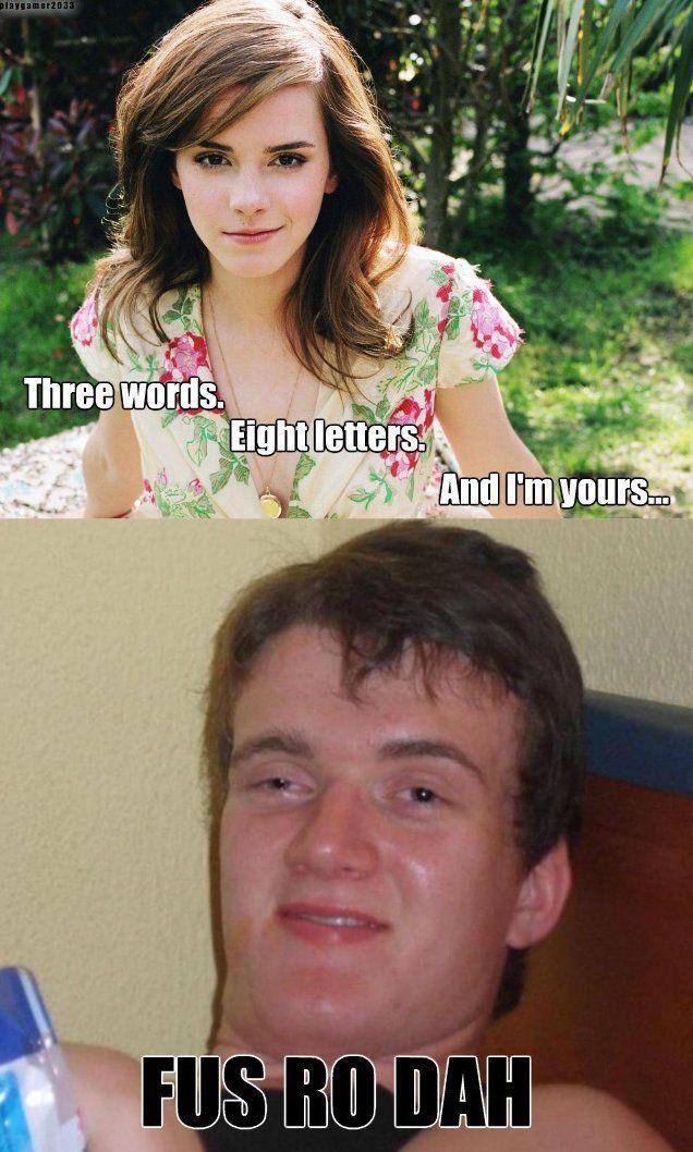 Fus Ro Dah Www Funny Pictures Blog Com Gamer Humor Skyrim Memes Best Funny Pictures