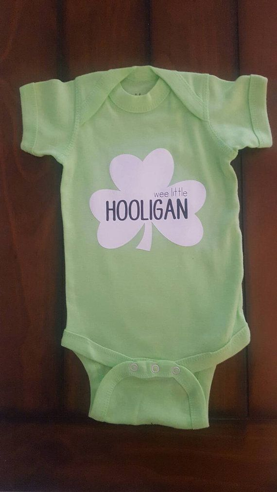 Check out this item in my Etsy shop https://www.etsy.com/listing/475100544/wee-little-hooligan-shamrock-onesie
