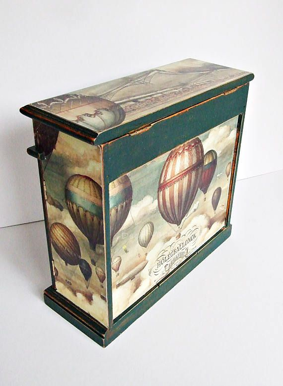 Jewellery armoire hot air balloons jewellery box vintage jewelry