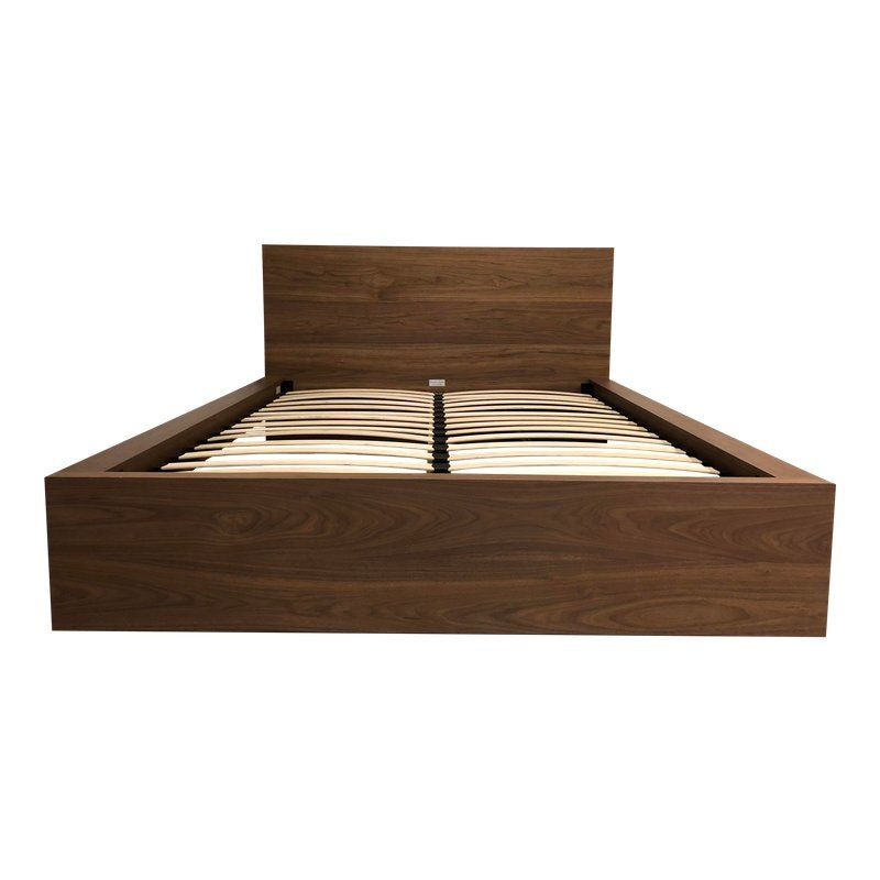 Best The Simple Bed In Walnut From Eq3 A Queen Simple Bed 400 x 300