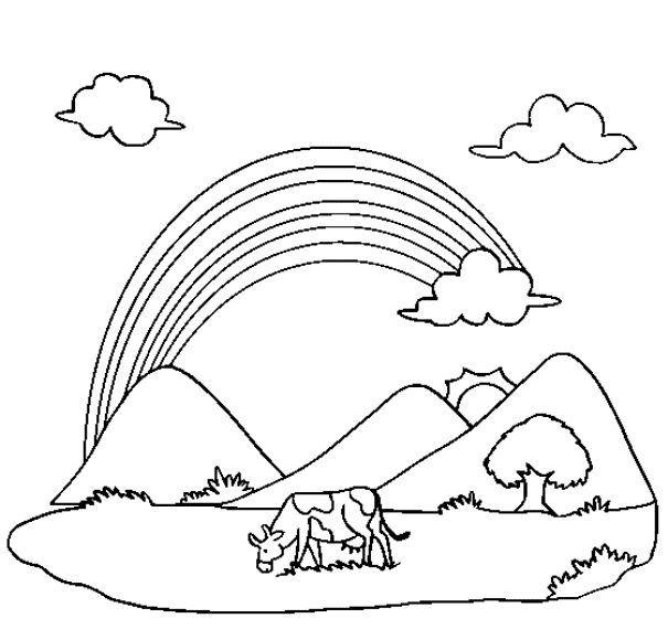 Paling Keren 30 Gambar Kartun Pemandangan Pelangi Jom Download Bermacam Contoh Gambar Air Sungai Untuk Mewarna Downl Halaman Mewarnai Pelangi Buku Mewarnai