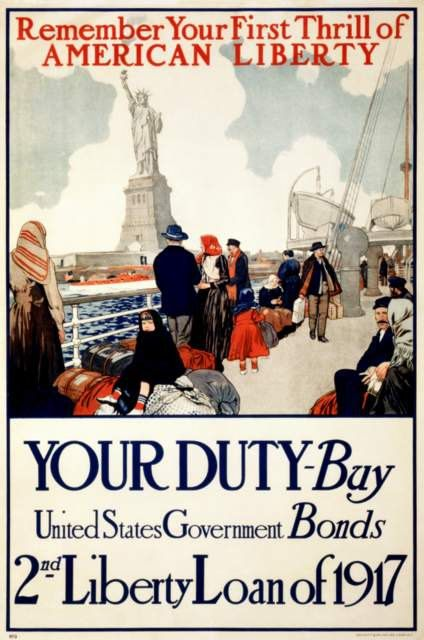 Wwi Usa Propaganda Poster Statue Of Liberty 1917 By Bloominluvly