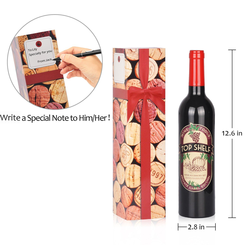 Wine Accessories Gift Set 5 Pcs Deluxe Wine Corkscrew Opener Sets Bottle Shape In Elegant Gift Box Great Wine Wine Accessories Gift Wine Gifts Wine Corkscrew