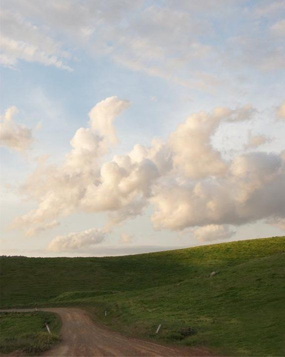 Landscape Photography, Countryside, Dreamy Clouds, Naure - The road less travelled