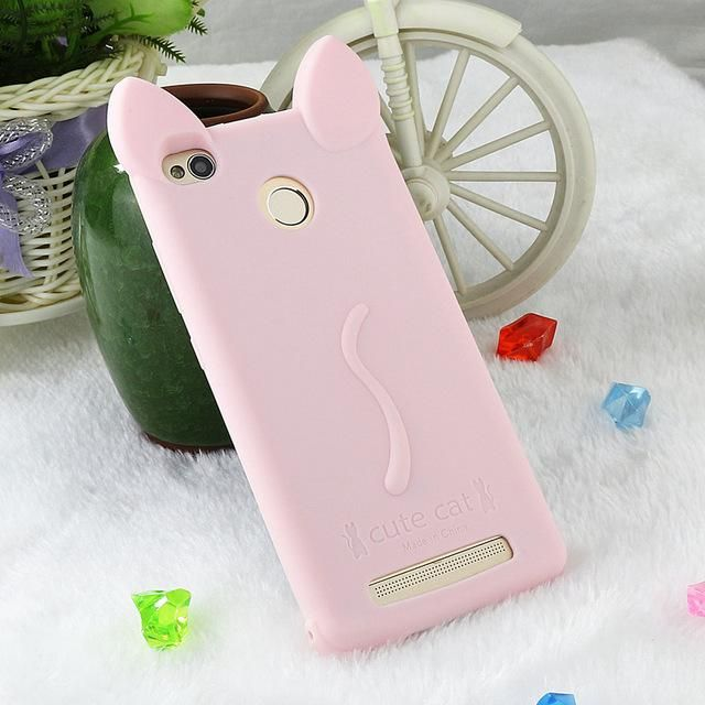 new product f7b10 d2b3e Cute Cat Case For Xiaomi Redmi 3 S 3S Pro Prime Cover Silicone Funny ...