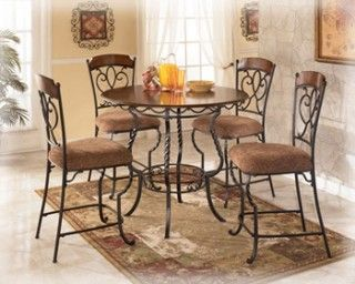 Nola Counter Height Table & 4 Side Chairs