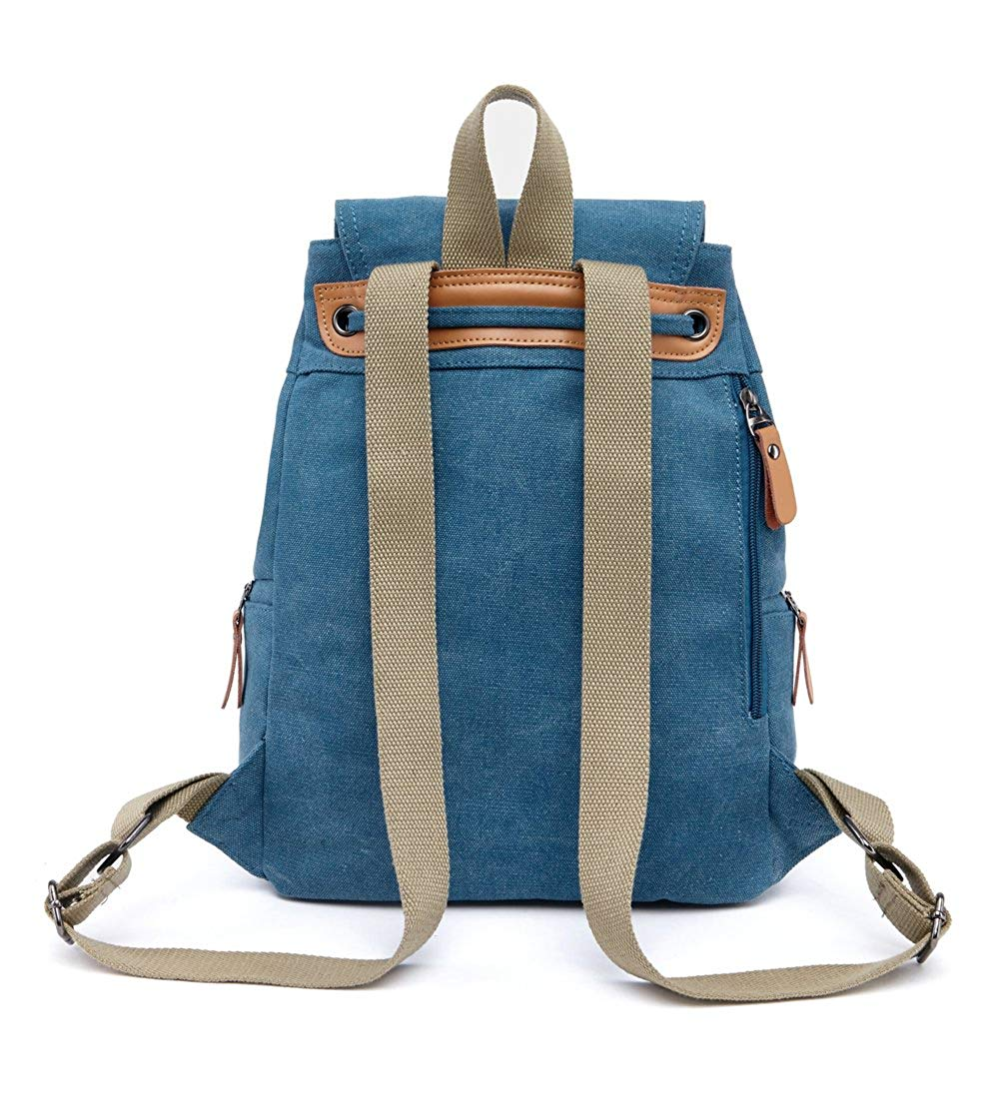 Genda 2Archer Canvas Vintage Women Backpack Fashion Denim Bag Travel//School
