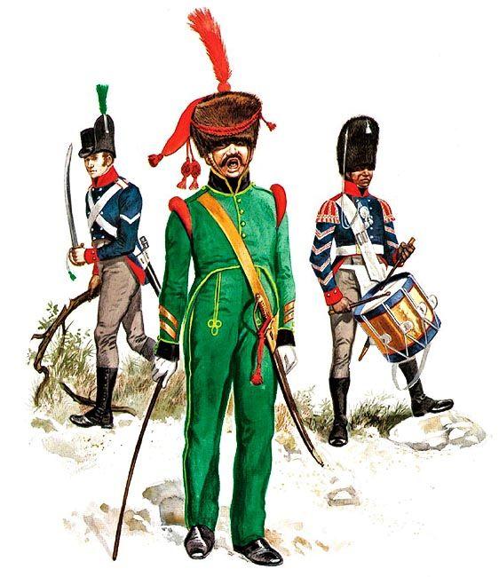 """""""Nassau and Oldenburg"""" • Corporal, Voltigeur Company, 1606-11 (Oldenburg) • Sergeant-major of Grenadiers, 1st Regiment, 1815 (Nassau) • Drummer, Grenadier Company, drill order (Oldenburg)"""