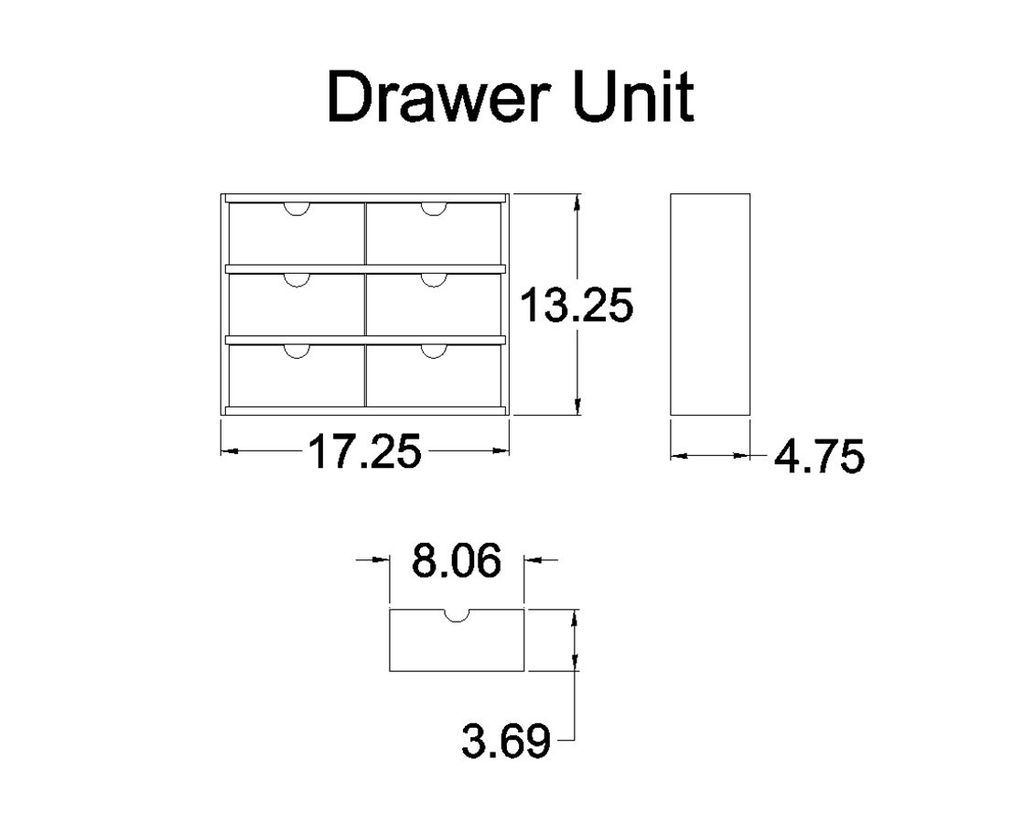 Drawer Unit dimensions