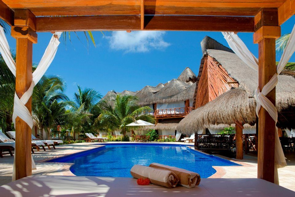 Riviera Maya , Mexico  #pool side  #destination wedding  #beach  #tropics