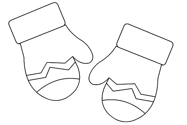 Mittens Gloves Coloring Pages Color Luna Di 2020