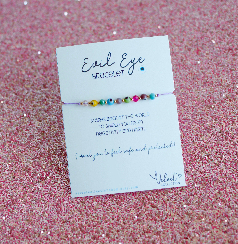 Evil Eye Bracelet Protection Bracelet Color Beads Turkish Eye Bracelet Mom Sister Friends Gift Good Vibes Brac Evil Eye Bracelet Evil Eye Jewelry Eye Jewelry