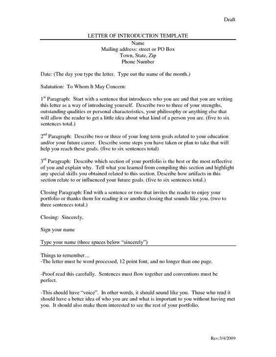 Letter Of Introduction Template Dancingmermaidcom Yfzce92i