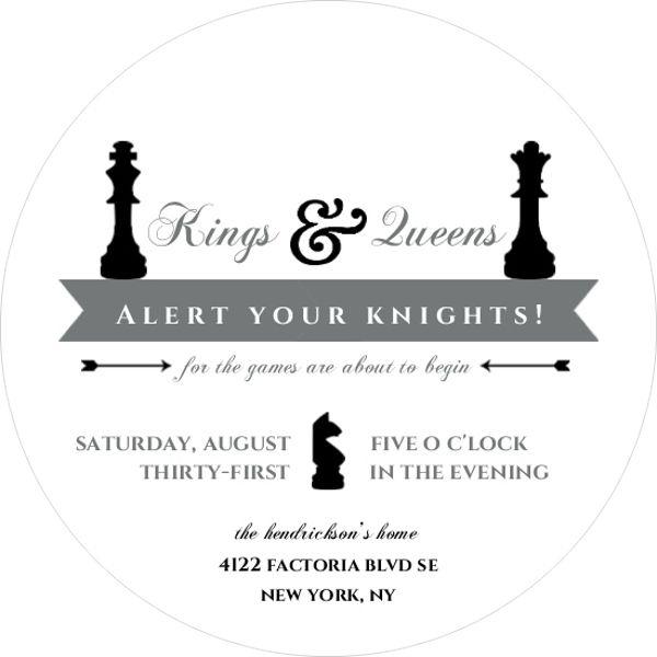 Chess Board Game Night Invitation