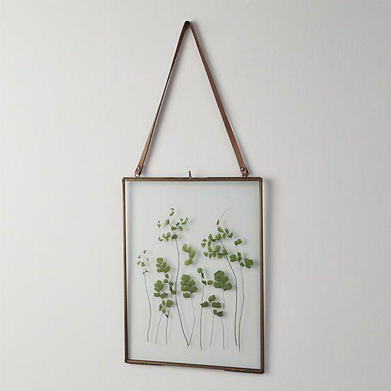 Brass floating 8x10 picture frame trockenblumen for Billige wanddeko