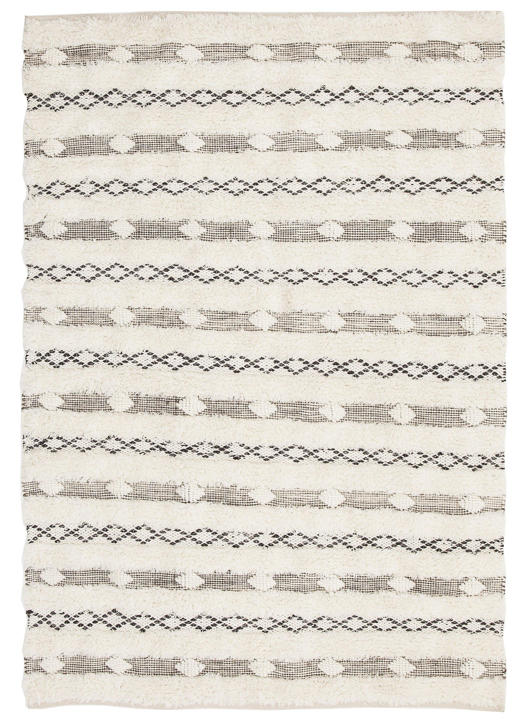 Mandi Ivory & Grey Brown Tribal Rug