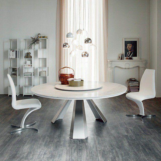 table de salle manger de design italien par cattelan italia - Table Ronde De Salle A Manger