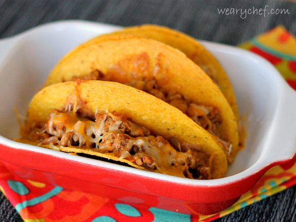 Easy Oven Baked Tacos - The Weary Chef