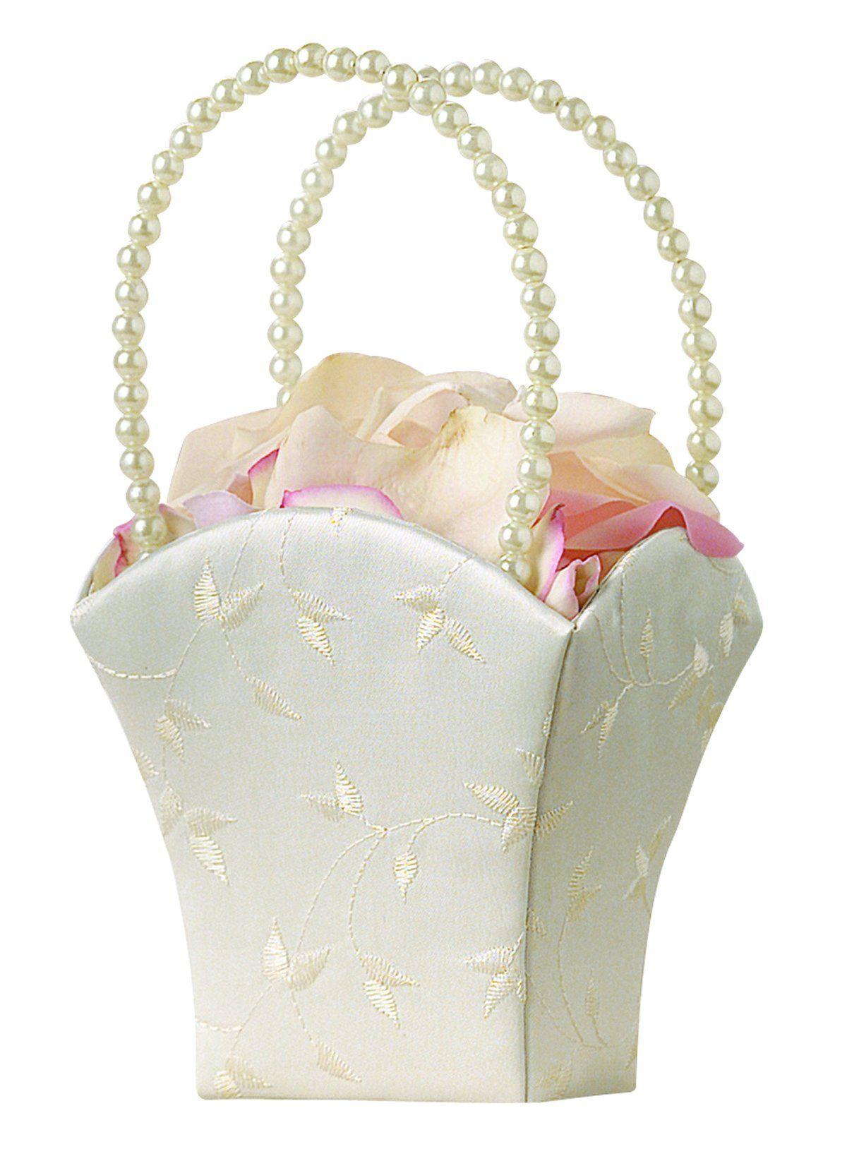 Lillian rose embroidery elegant wedding flower basket