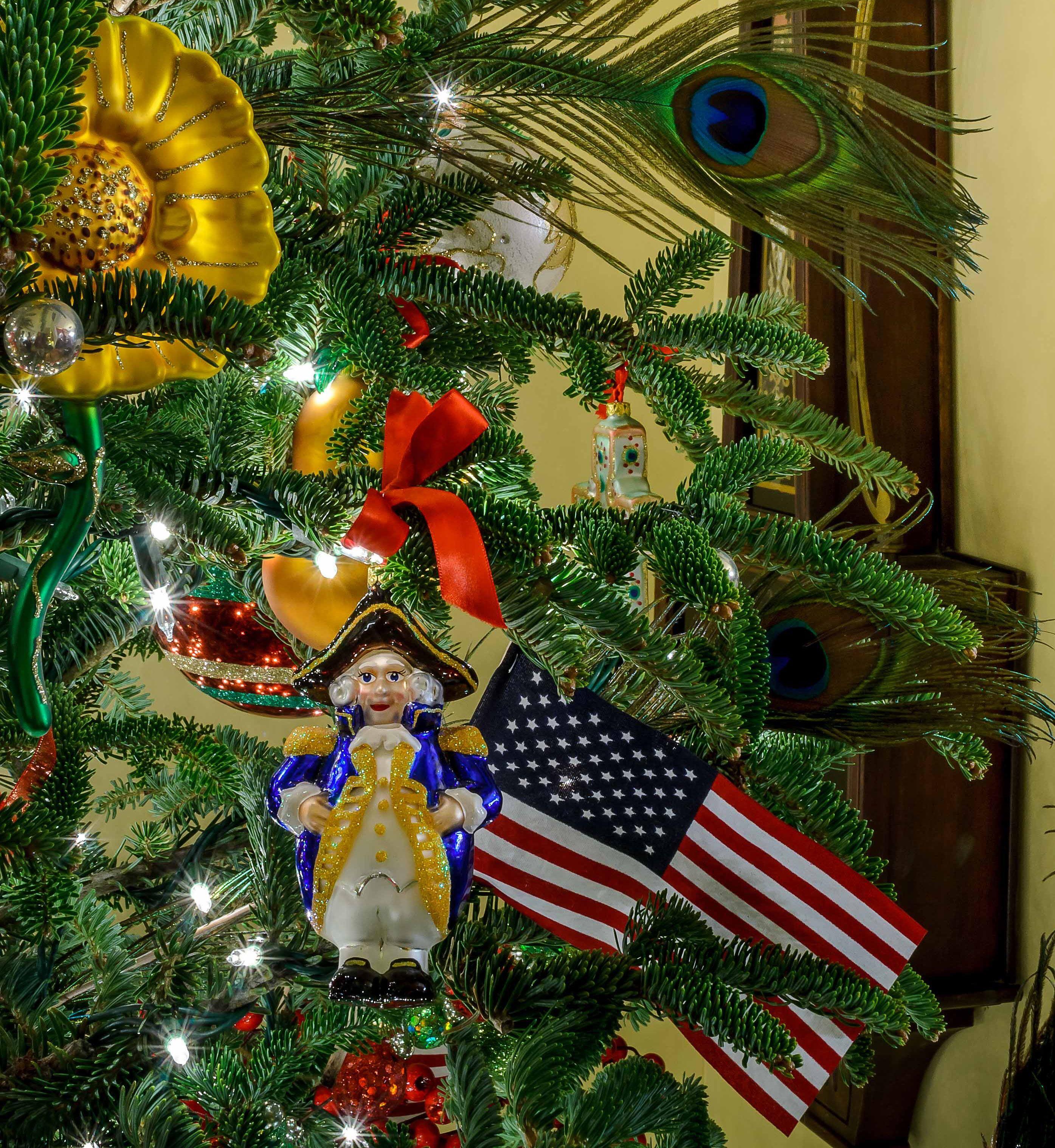 A Christmas Tree That Celebrates America Patriotic Christmas Tree Patriotic Christmas Christmas Tree