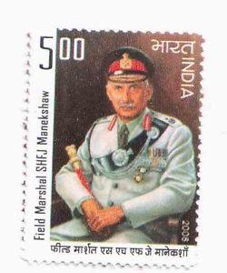 India 2008 Sam Hormusji Framji Jamshedji Manekshaw Mnh Field Marshal Old Stamps Indian Legends