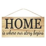 12 Quot Tin Home Is Where Our Story Begins Sign Signs Tin