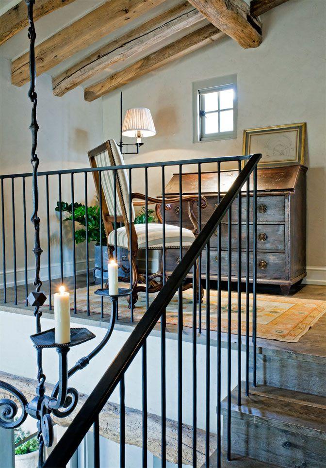 2nd Floor Landing Rustic Simple Tuscan Style Elegance Haus