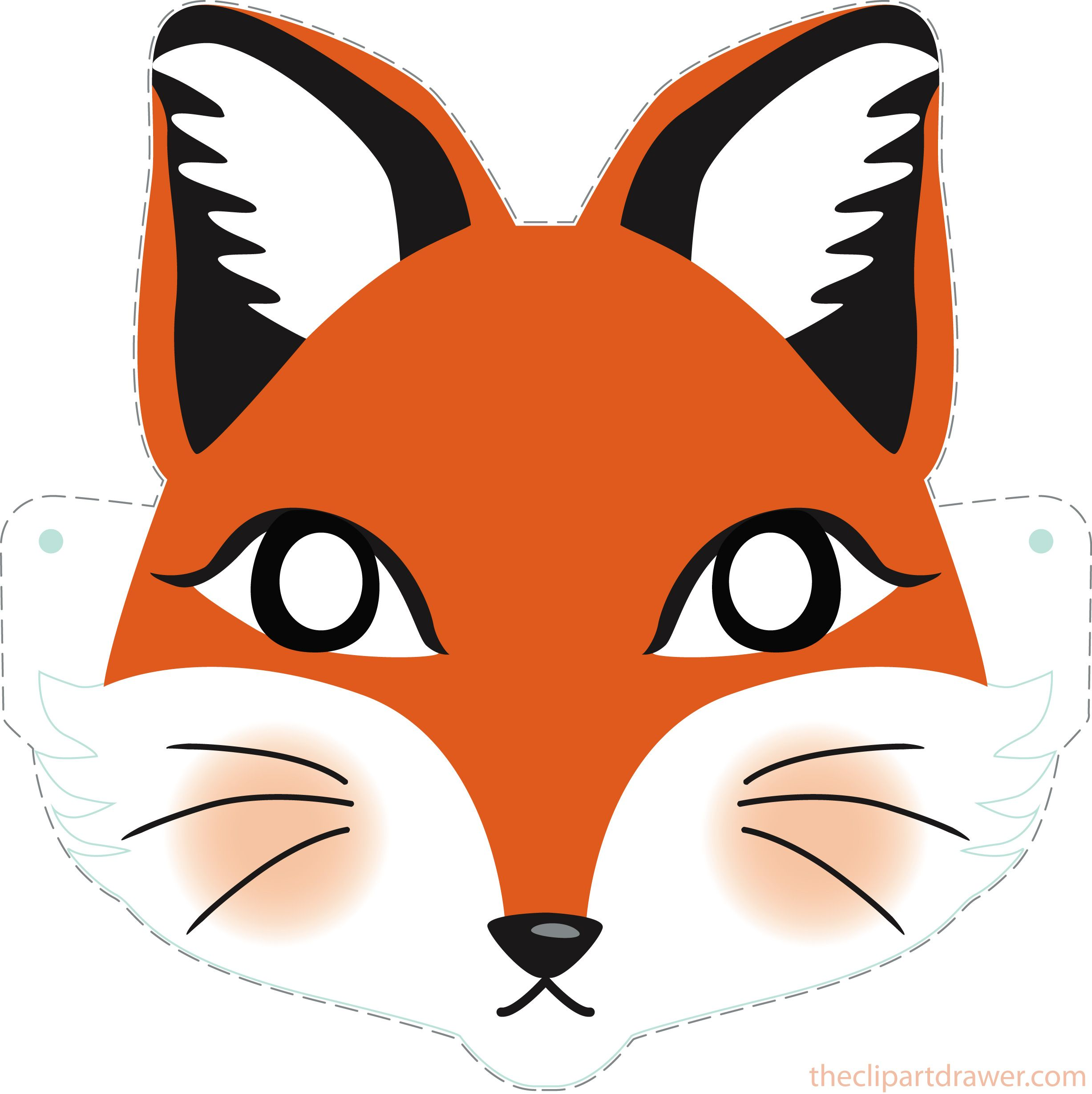 It's just an image of Playful Printable Fox Mask