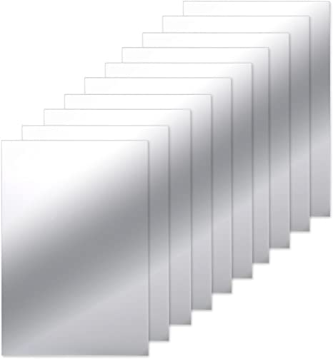 Amazon Com Bbto 10 Pieces Mirror Sheets Self Adhesive Non Glass Mirror Tiles Wall Sticky Mirror 6 X 9 Inch Home In 2020 Glass Mirror Tiles Wall Tiles