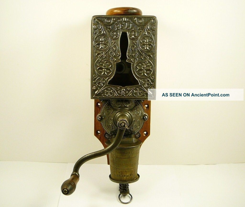 Antique Arcade Bell Coffee Grinder Wall Mount Mill
