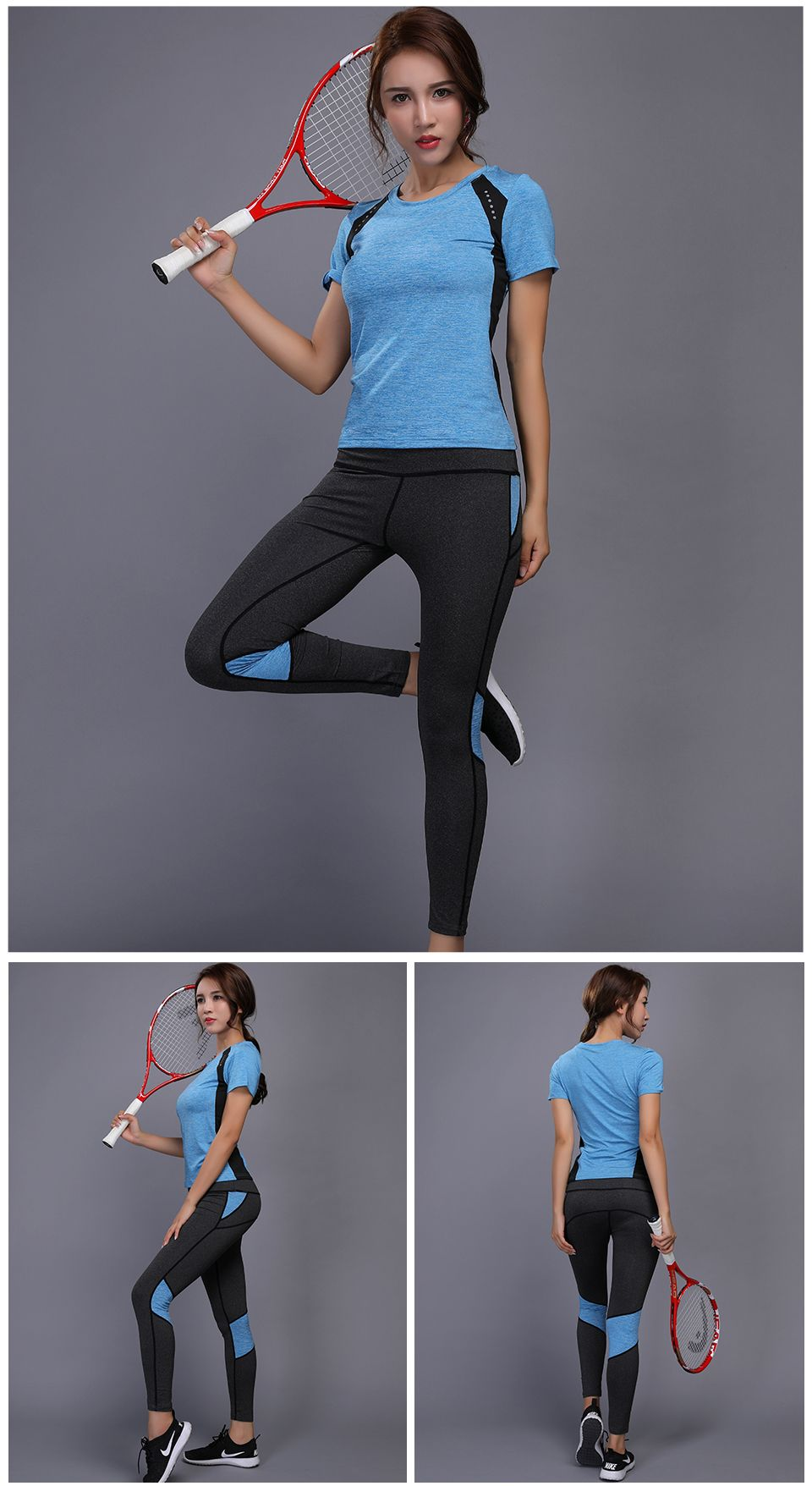9a4bb31fc33 LYNSKEY Women Yoga Set Gym Fitness Clothes Tennis Shirt Pants Running  Tights Jogging Workout Yoga Leggings Sport Suit