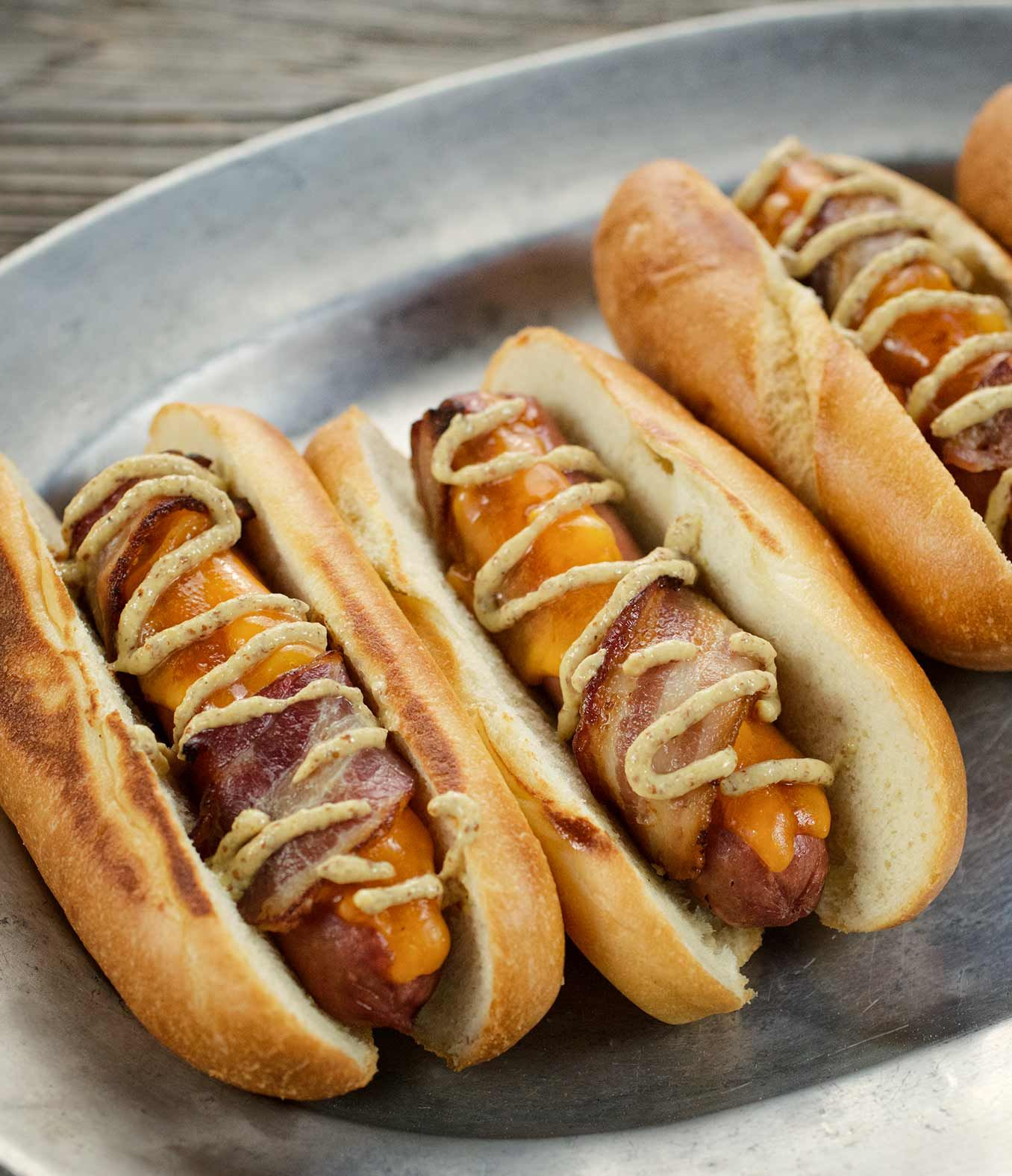 CheeseStuffed BaconWrapped Hot Dogs with Organic Valley